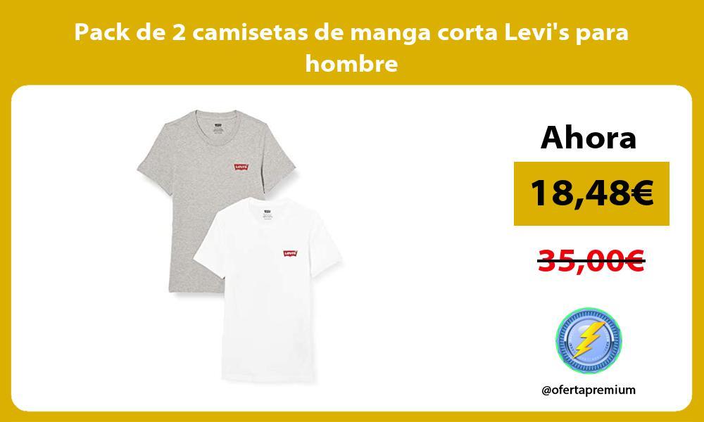 Pack de 2 camisetas de manga corta Levis para hombre