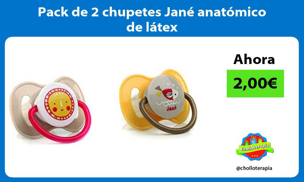 Pack de 2 chupetes Jane anatomico de latex
