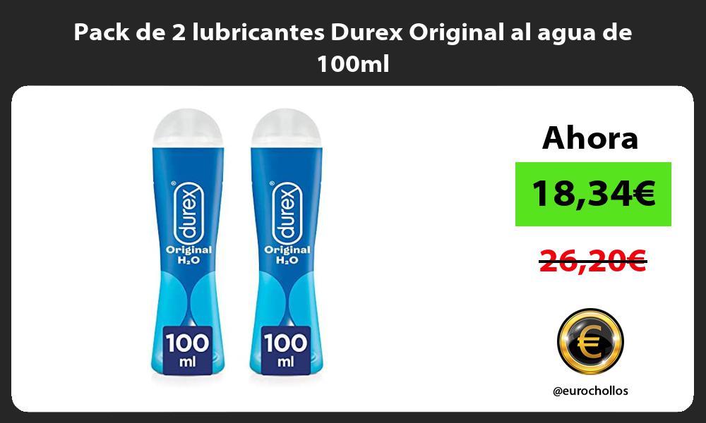 Pack de 2 lubricantes Durex Original al agua de 100ml