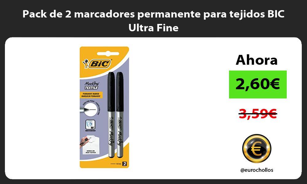 Pack de 2 marcadores permanente para tejidos BIC Ultra Fine