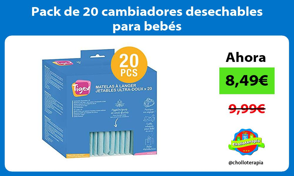 Pack de 20 cambiadores desechables para bebes