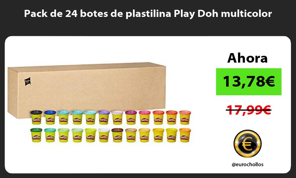 Pack de 24 botes de plastilina Play Doh multicolor