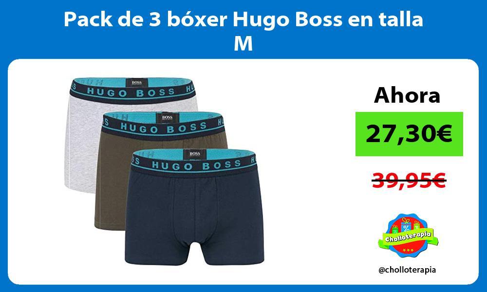 Pack de 3 bóxer Hugo Boss en talla M