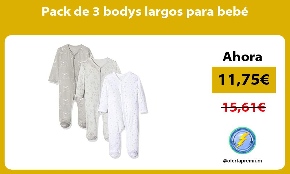 Pack de 3 bodys largos para bebé