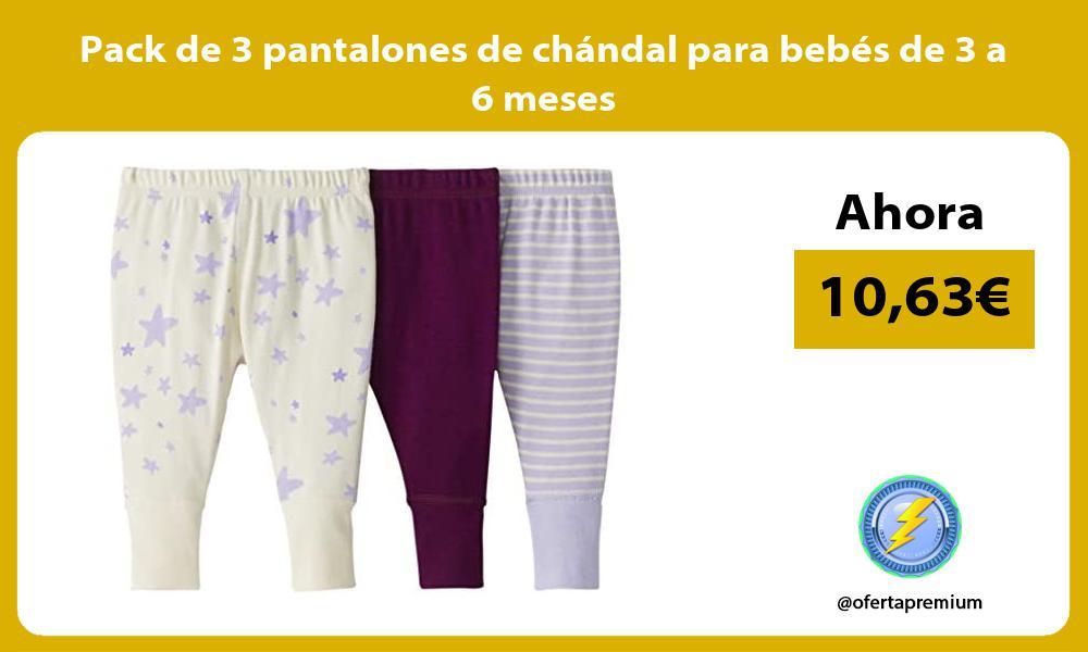 Pack de 3 pantalones de chandal para bebes de 3 a 6 meses