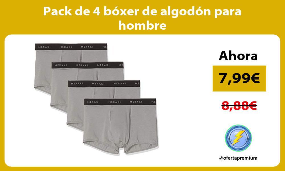 Pack de 4 bóxer de algodón para hombre
