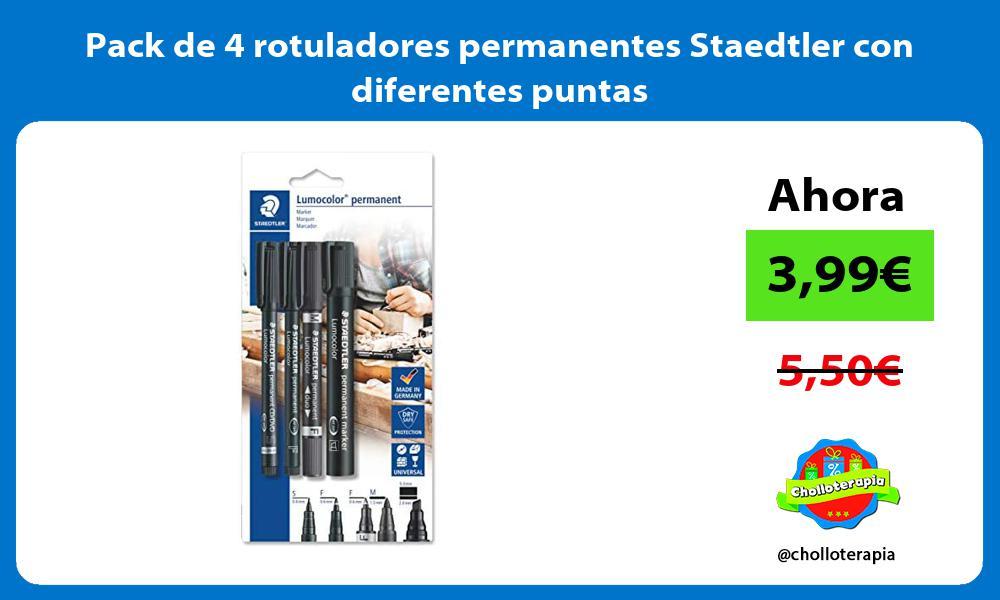 Pack de 4 rotuladores permanentes Staedtler con diferentes puntas