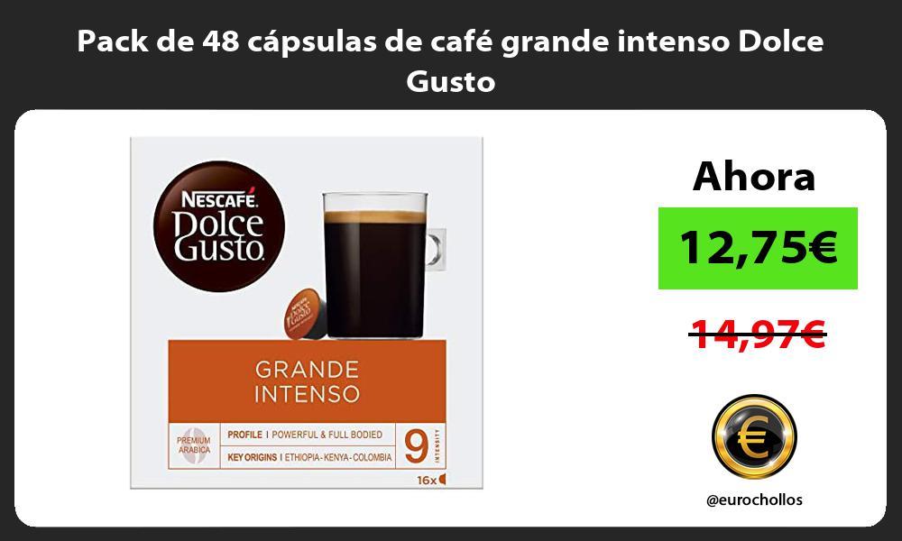 Pack de 48 capsulas de cafe grande intenso Dolce Gusto