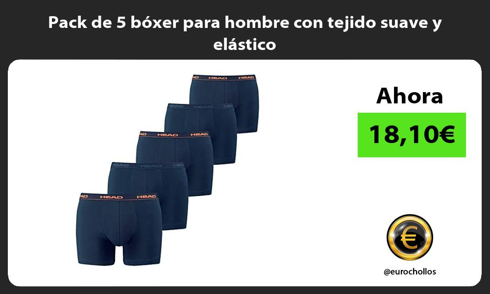Pack de 5 boxer para hombre con tejido suave y elastico