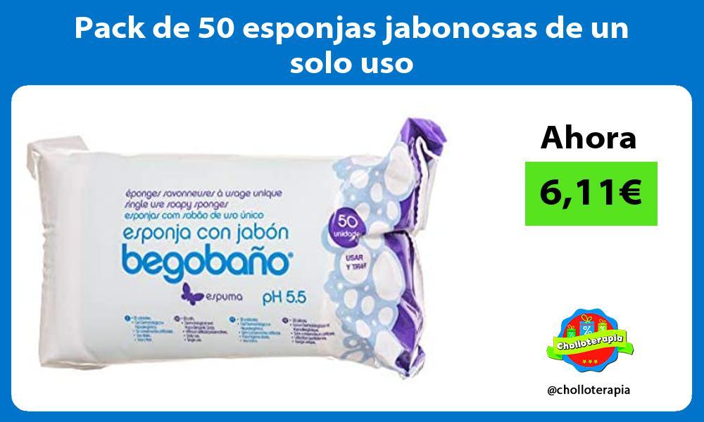 Pack de 50 esponjas jabonosas de un solo uso