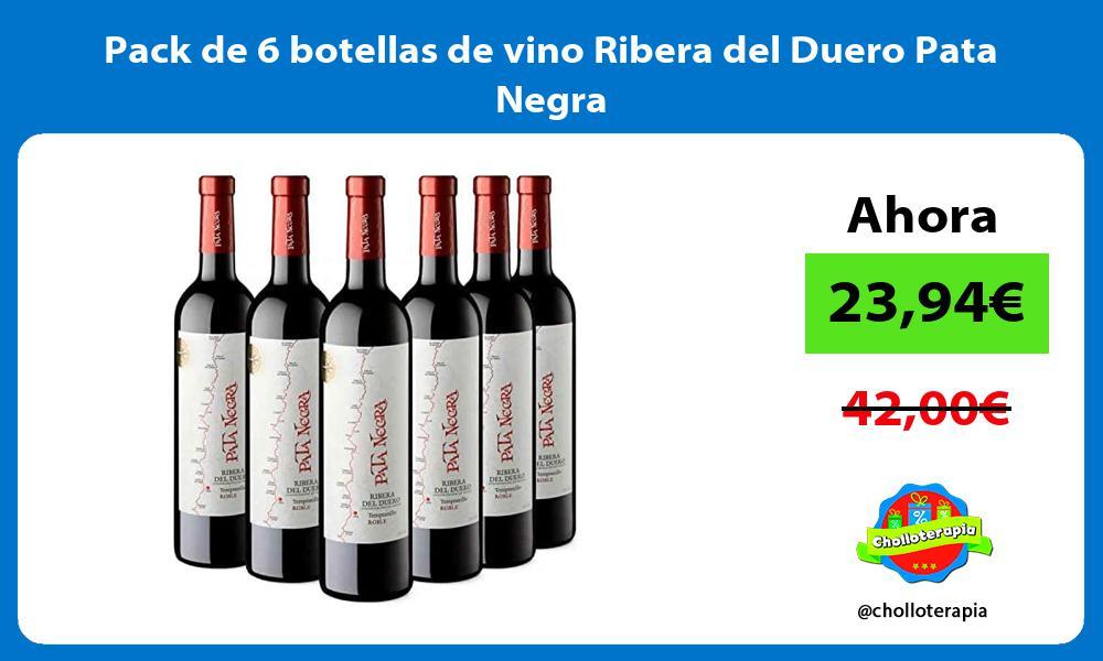 Pack de 6 botellas de vino Ribera del Duero Pata Negra