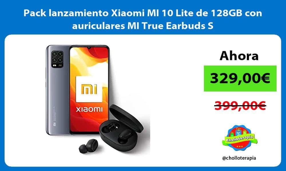 Pack lanzamiento Xiaomi MI 10 Lite de 128GB con auriculares MI True Earbuds S