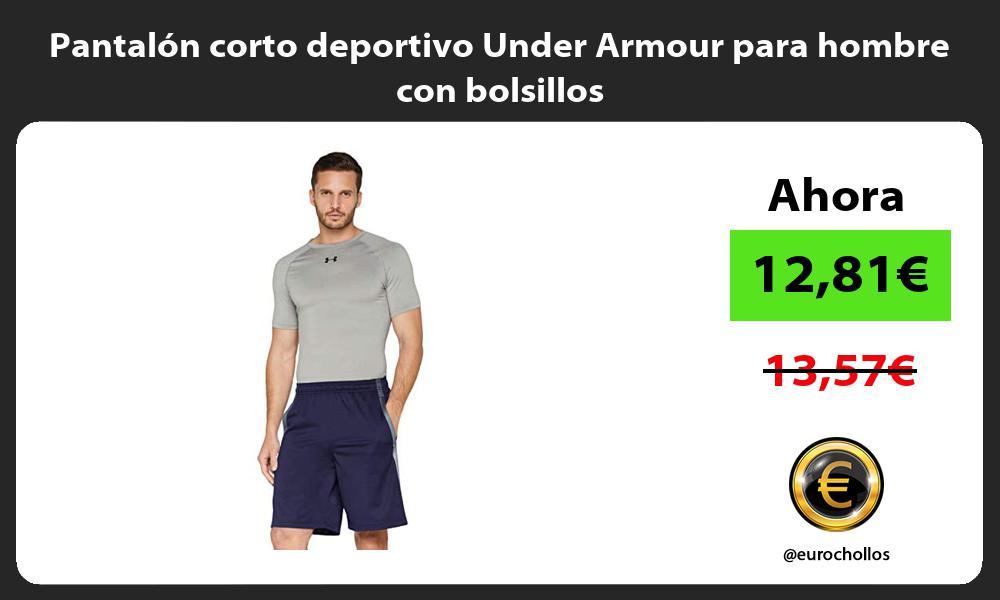 Pantalon corto deportivo Under Armour para hombre con bolsillos