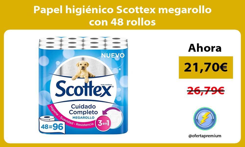 Papel higiénico Scottex megarollo con 48 rollos