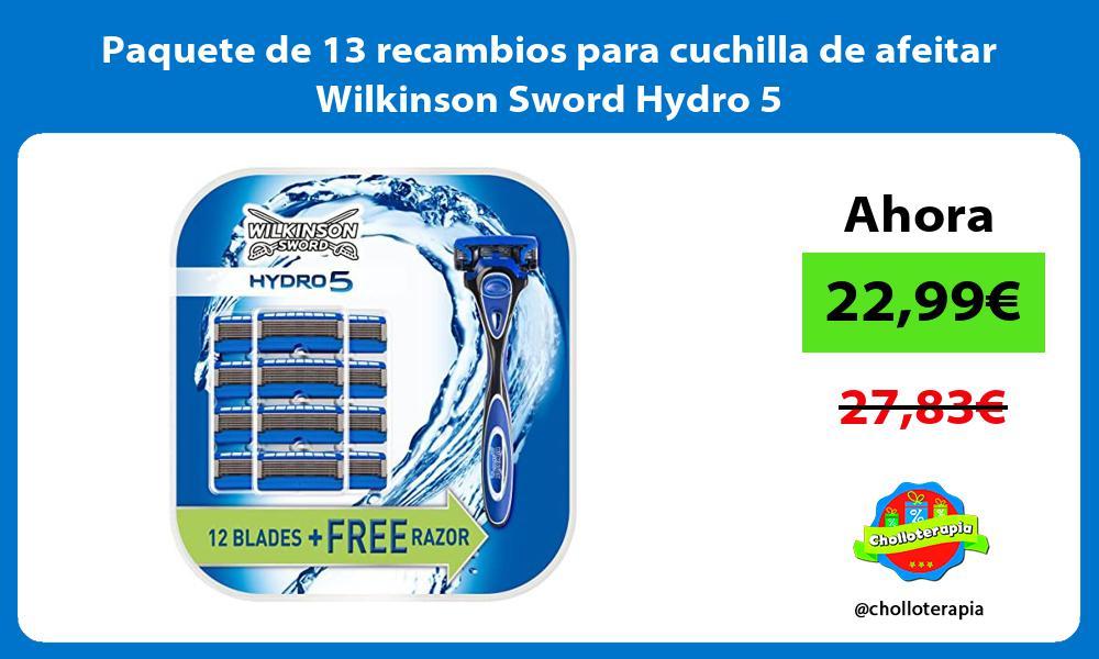 Paquete de 13 recambios para cuchilla de afeitar Wilkinson Sword Hydro 5