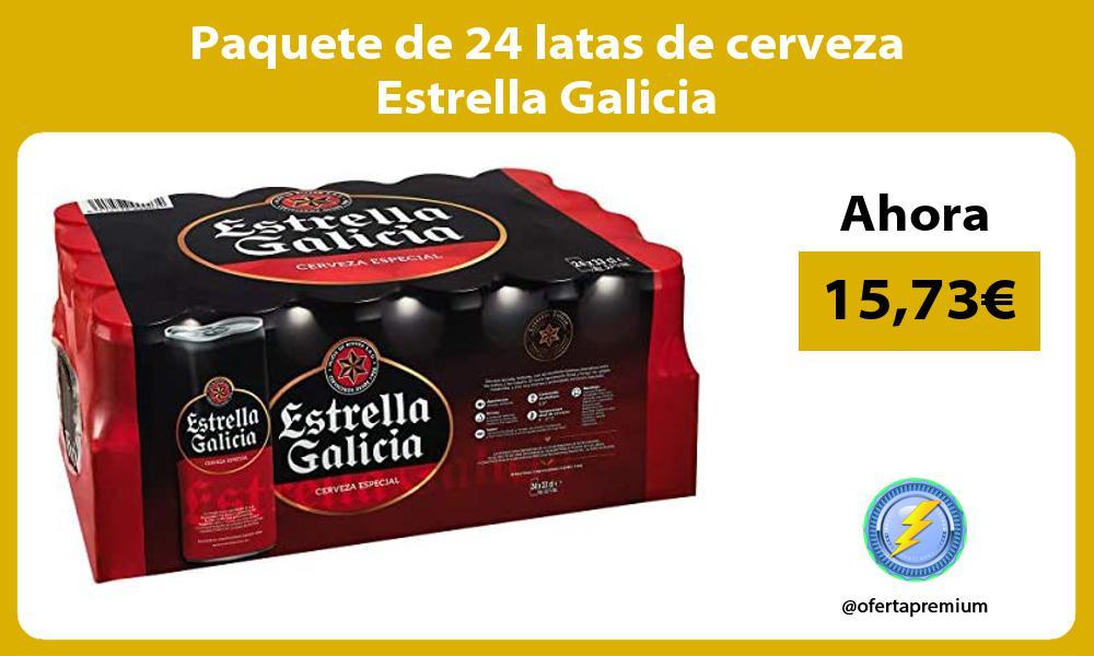 Paquete de 24 latas de cerveza Estrella Galicia