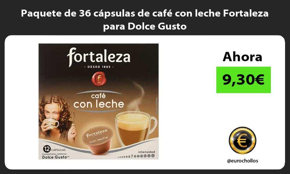 Paquete de 36 cápsulas de café con leche Fortaleza para Dolce Gusto