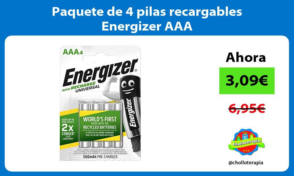 Paquete de 4 pilas recargables Energizer AAA