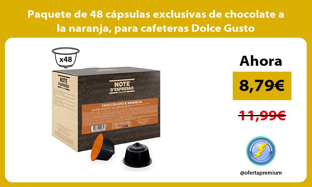 Paquete de 48 capsulas exclusivas de chocolate a la naranja para cafeteras Dolce Gusto