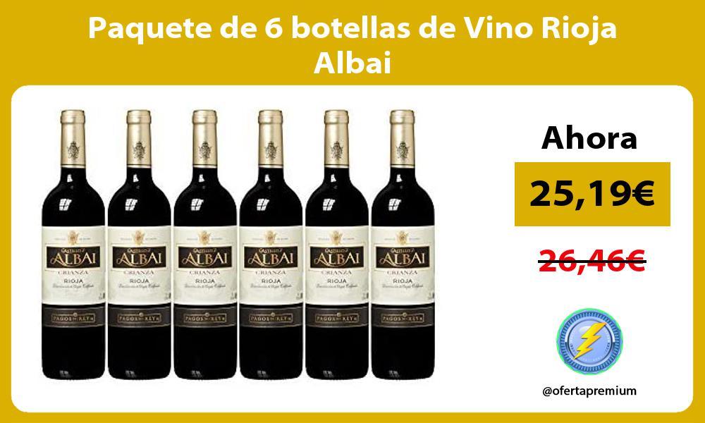 Paquete de 6 botellas de Vino Rioja Albai