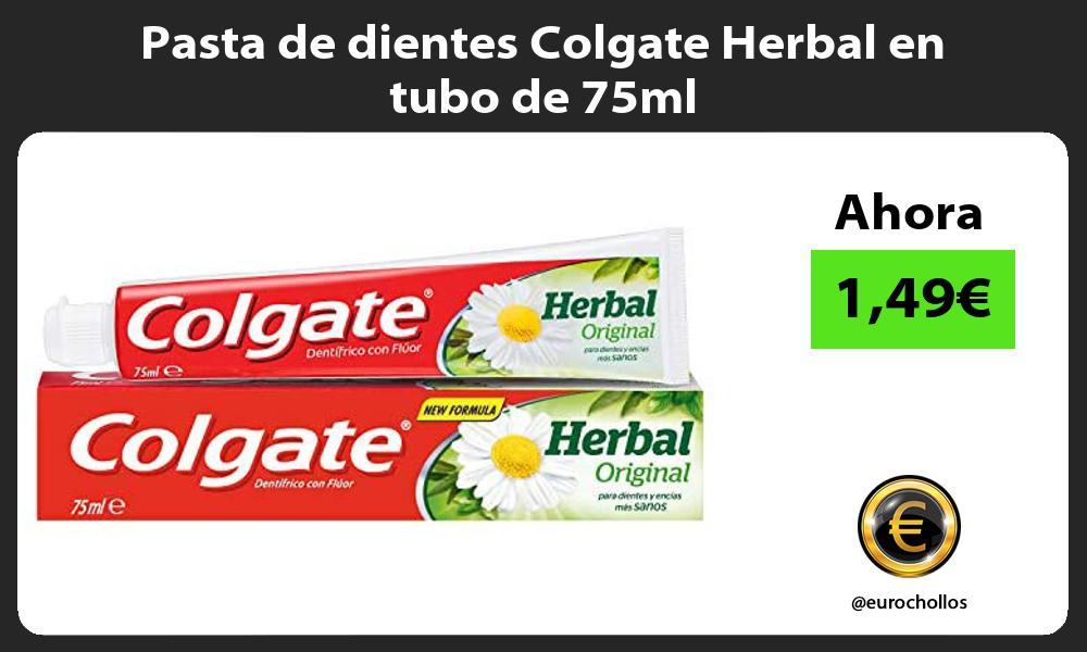 Pasta de dientes Colgate Herbal en tubo de 75ml