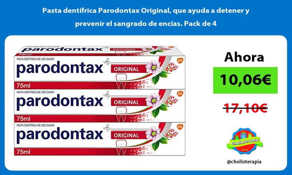 Pasta dentífrica Parodontax Original que ayuda a detener y prevenir el sangrado de encías Pack de 4