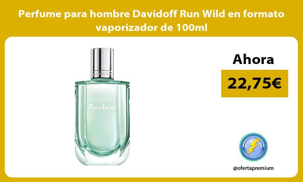 Perfume para hombre Davidoff Run Wild en formato vaporizador de 100ml