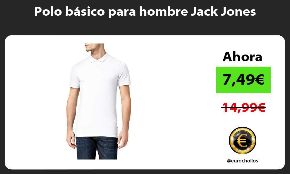 Polo basico para hombre Jack Jones