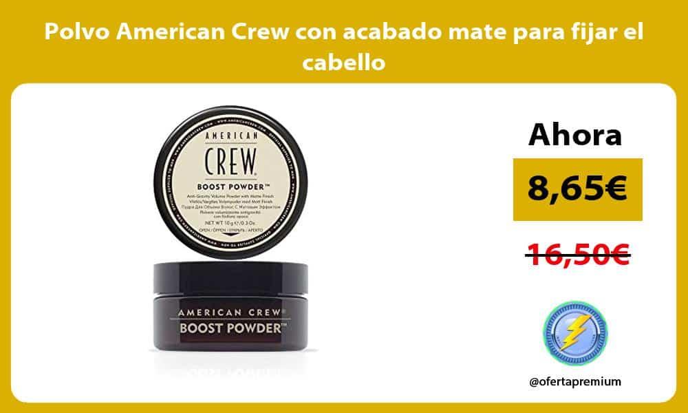 Polvo American Crew con acabado mate para fijar el cabello