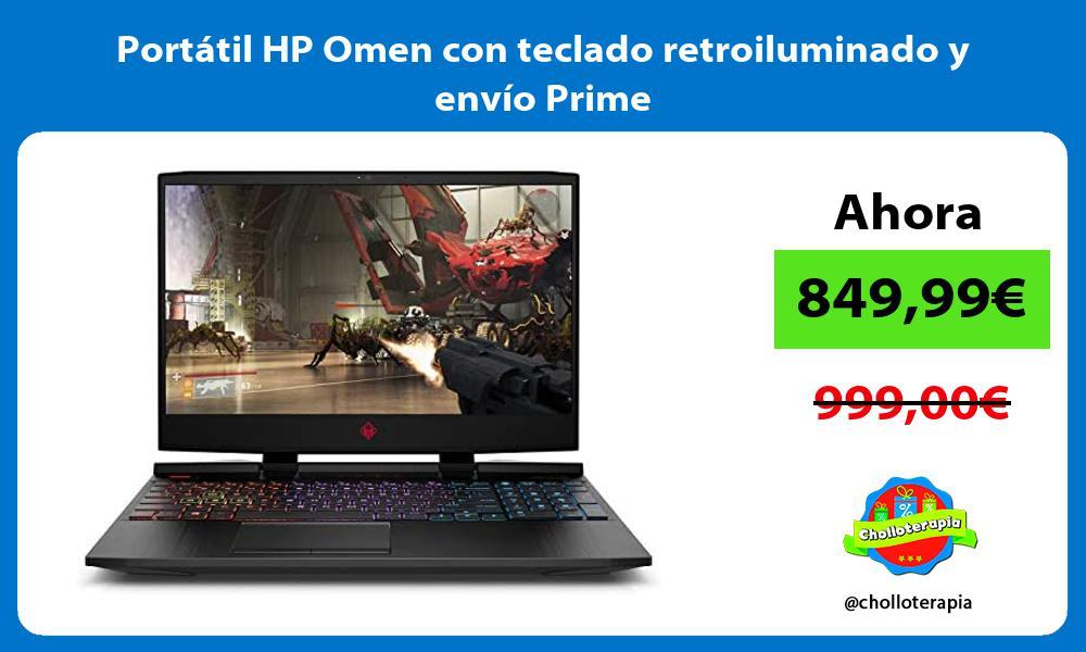 Portátil HP Omen con teclado retroiluminado y envío Prime