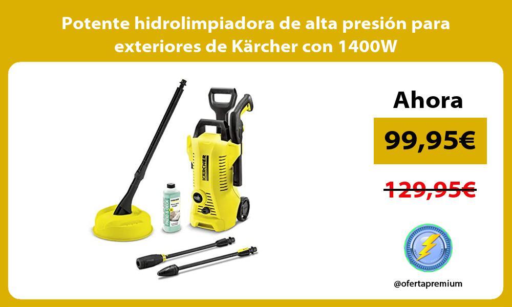Potente hidrolimpiadora de alta presion para exteriores de Karcher con 1400W