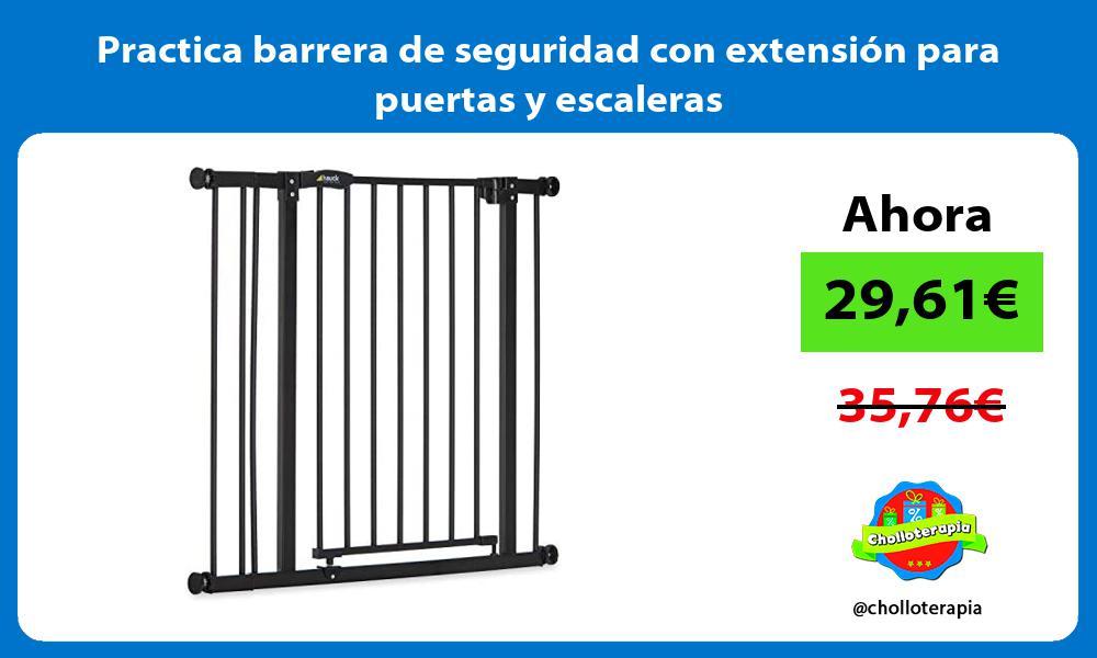 Practica barrera de seguridad con extensión para puertas y escaleras