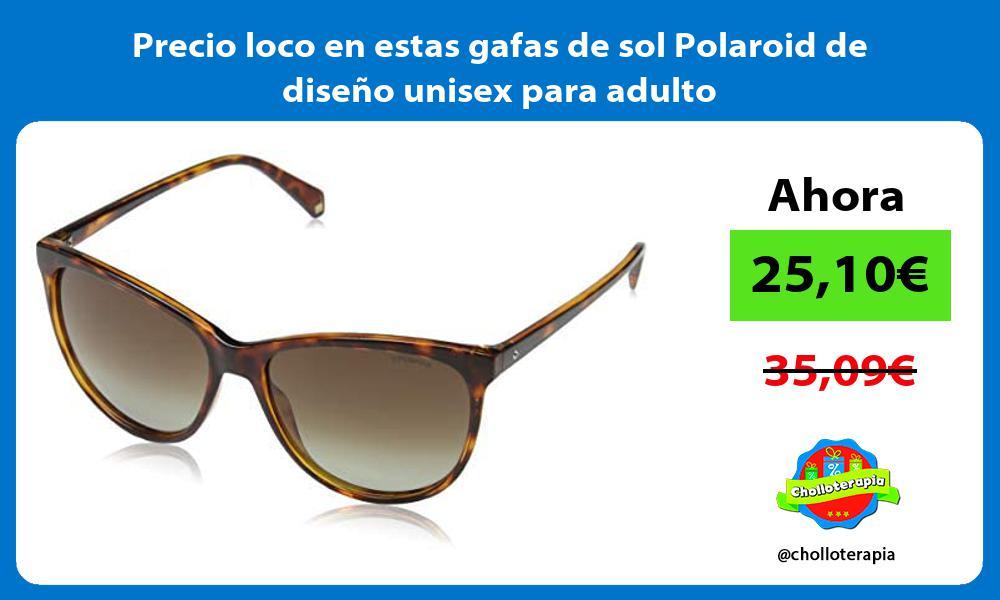 Precio loco en estas gafas de sol Polaroid de diseno unisex para adulto