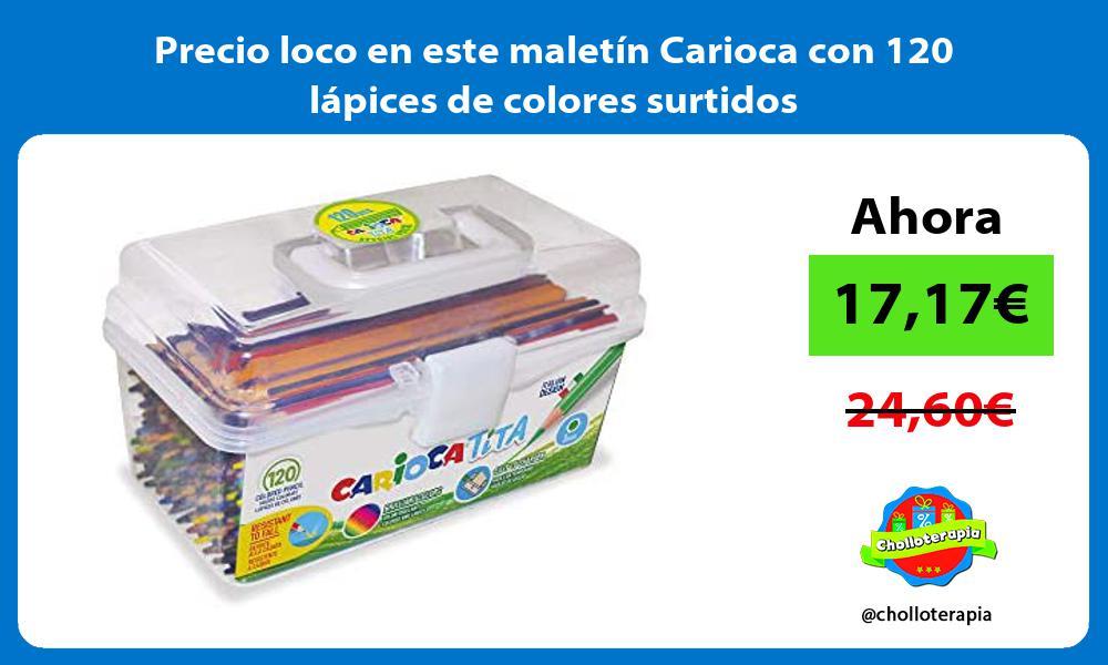 Precio loco en este maletin Carioca con 120 lapices de colores surtidos