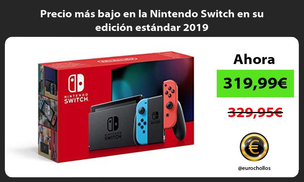 Precio mas bajo en la Nintendo Switch en su edicion estandar 2019
