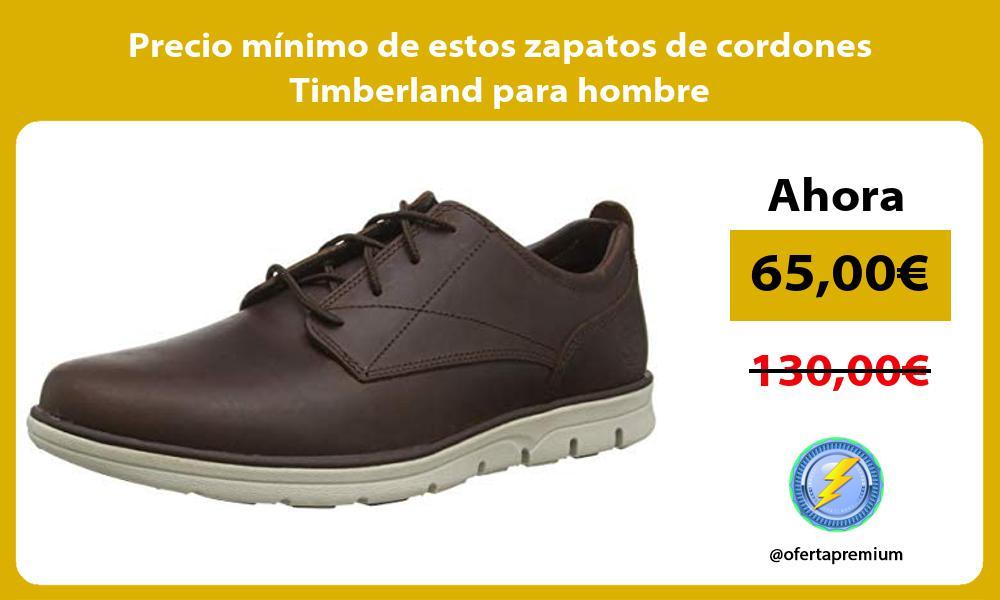 Precio minimo de estos zapatos de cordones Timberland para hombre