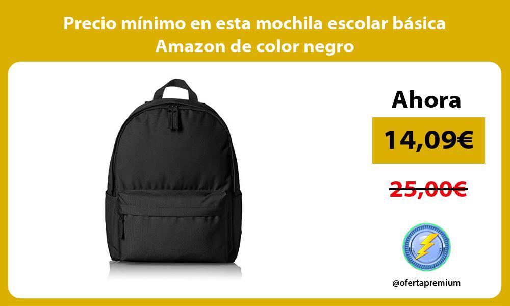 Precio minimo en esta mochila escolar basica Amazon de color negro
