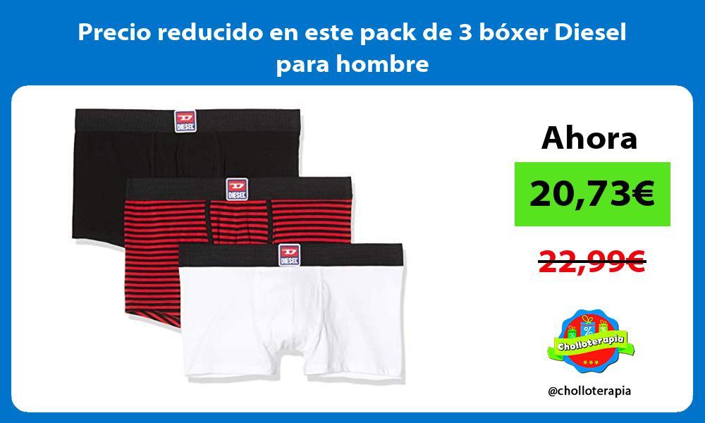 Precio reducido en este pack de 3 boxer Diesel para hombre