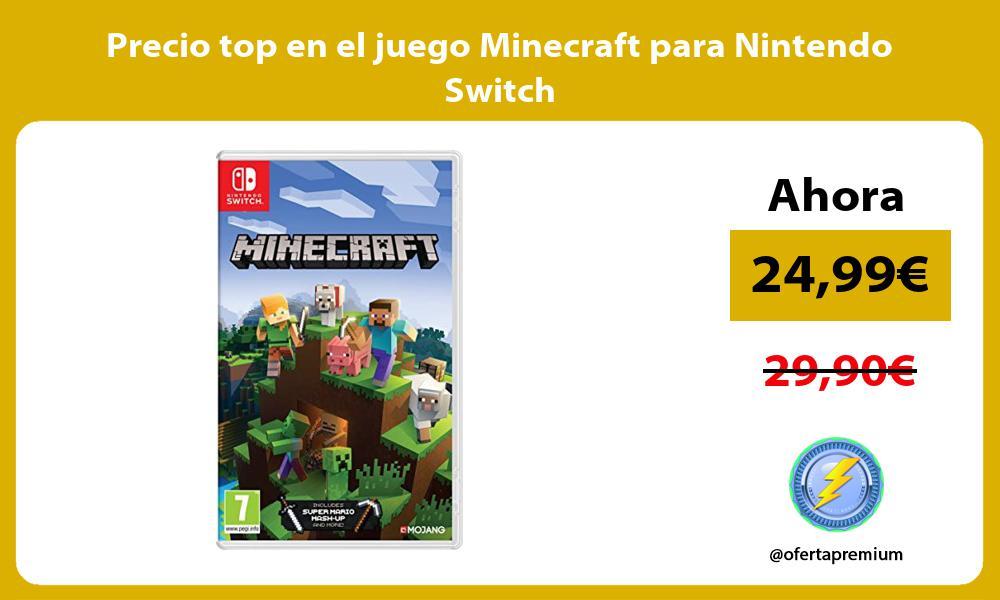 Precio top en el juego Minecraft para Nintendo Switch