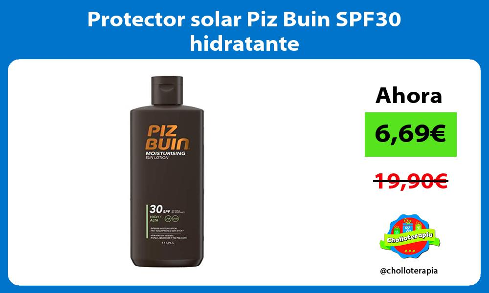 Protector solar Piz Buin SPF30 hidratante