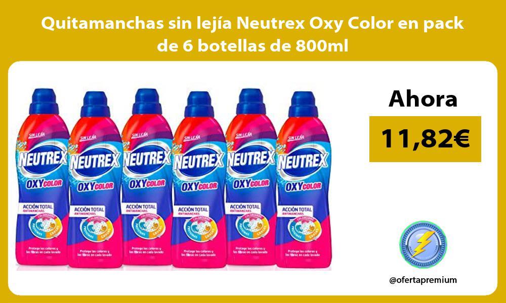 Quitamanchas sin lejia Neutrex Oxy Color en pack de 6 botellas de 800ml
