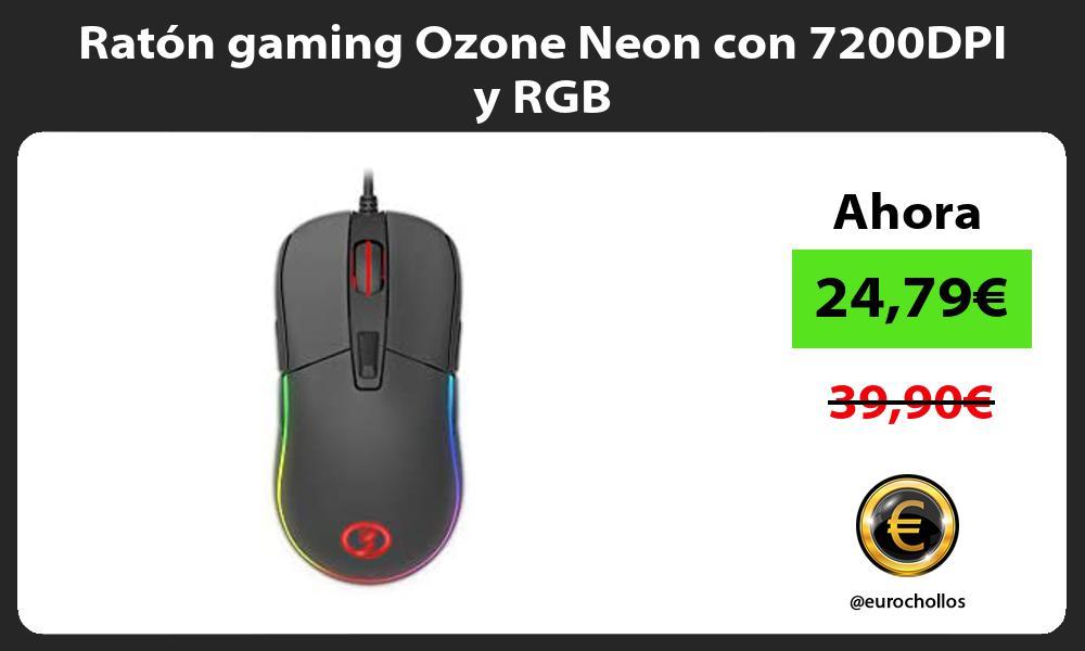 Ratón gaming Ozone Neon con 7200DPI y RGB