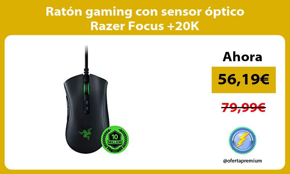 Ratón gaming con sensor óptico Razer Focus 20K
