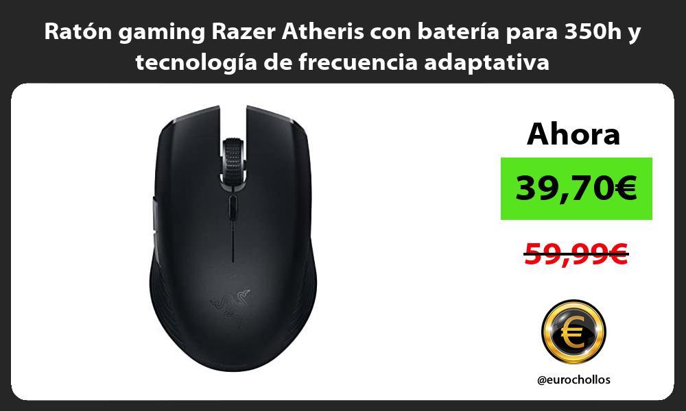 Raton gaming Razer Atheris con bateria para 350h y tecnologia de frecuencia adaptativa