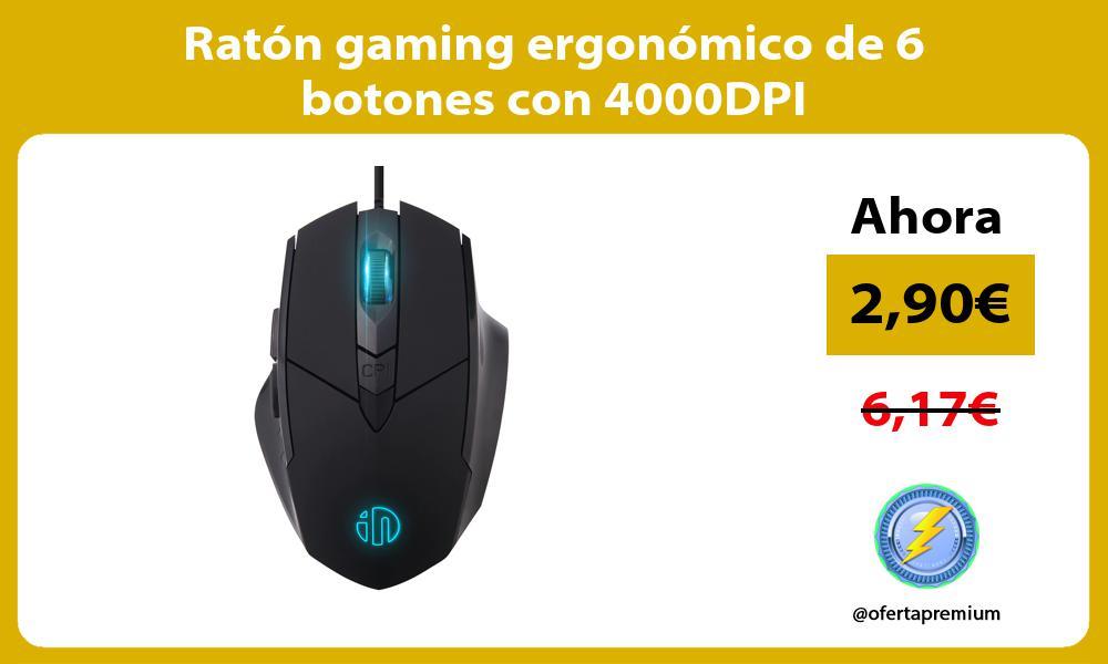 Raton gaming ergonomico de 6 botones con 4000DPI