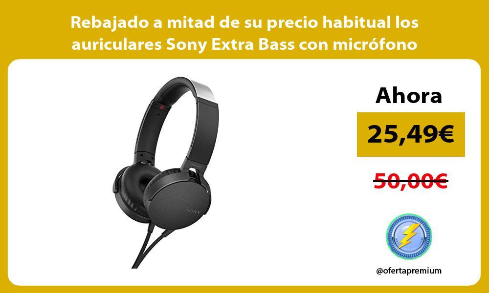 Rebajado a mitad de su precio habitual los auriculares Sony Extra Bass con microfono integrado
