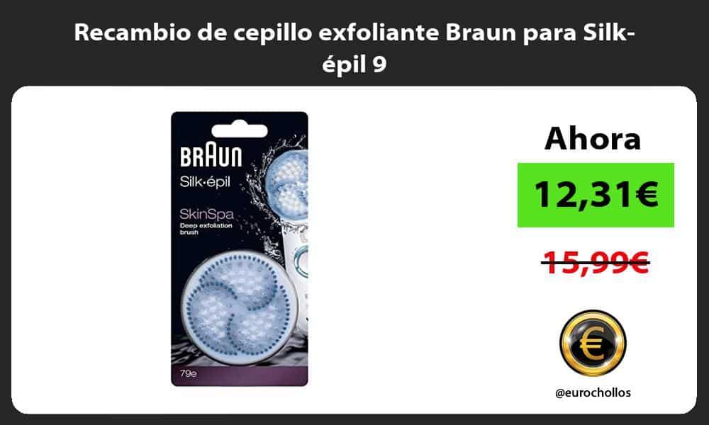 Recambio de cepillo exfoliante Braun para Silk épil 9
