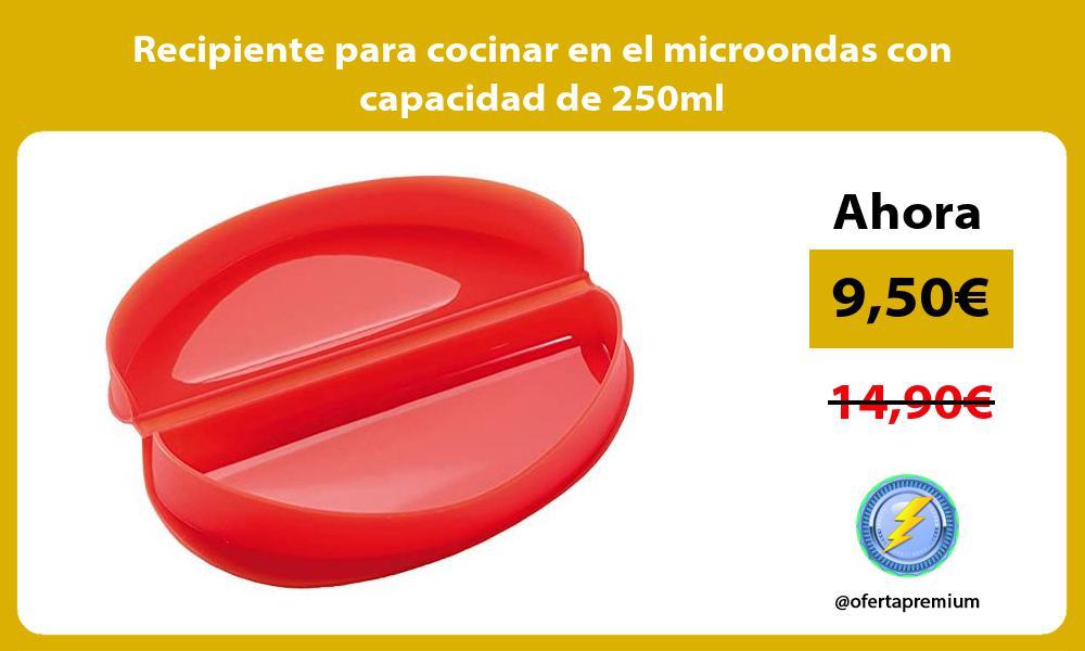 Recipiente para cocinar en el microondas con capacidad de 250ml