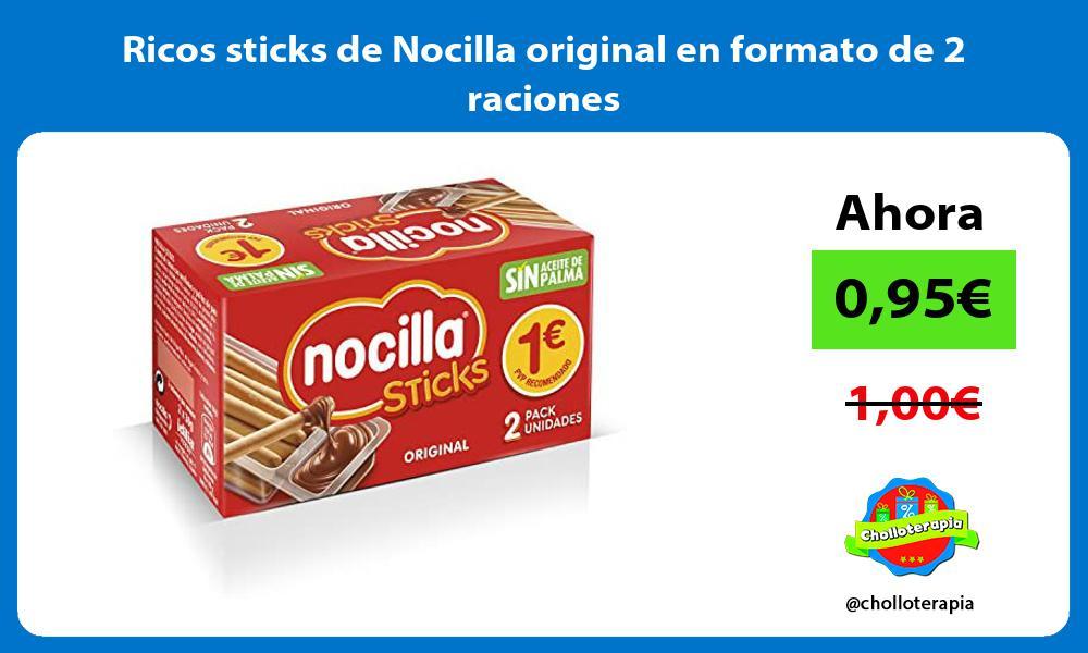 Ricos sticks de Nocilla original en formato de 2 raciones