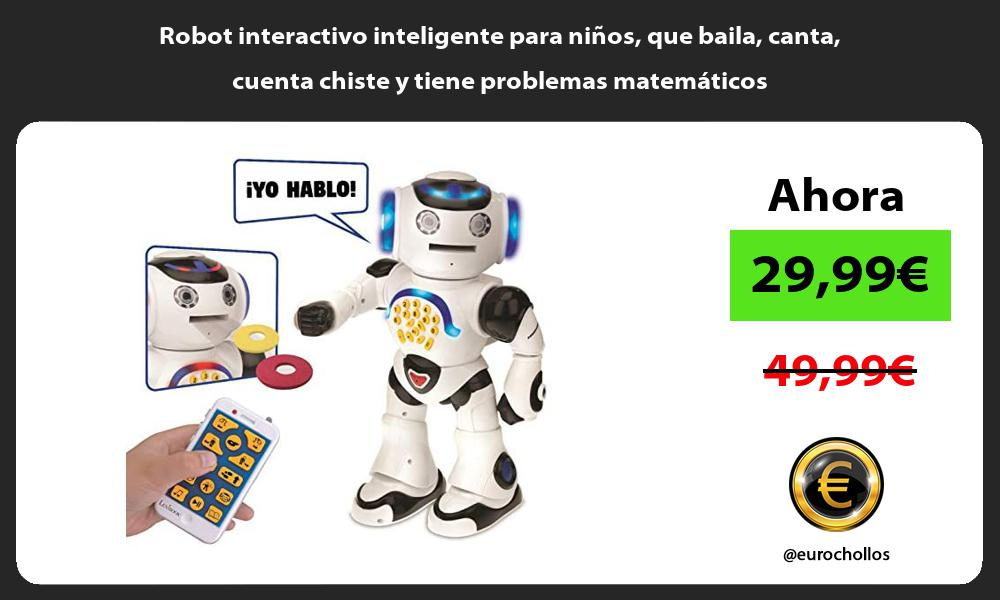 Robot interactivo inteligente para niños que baila canta cuenta chiste y tiene problemas matemáticos